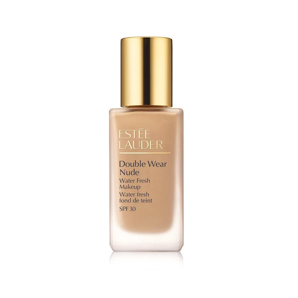 """<p>This is the foundation you wear when you don't want to feel like you're wearing makeup. """"It literally feels like water,"""" says beauty editor Devon Abelman, """"It melts into skin and stays put all day.""""</p> <p><strong>$43</strong> (<a href=""""https://www.esteelauder.com/product/643/49039/product-catalog/makeup/face/foundation/double-wear-nude/water-fresh-makeup-spf-30"""" rel=""""nofollow noopener"""" target=""""_blank"""" data-ylk=""""slk:Shop Now"""" class=""""link rapid-noclick-resp"""">Shop Now</a>)</p>"""