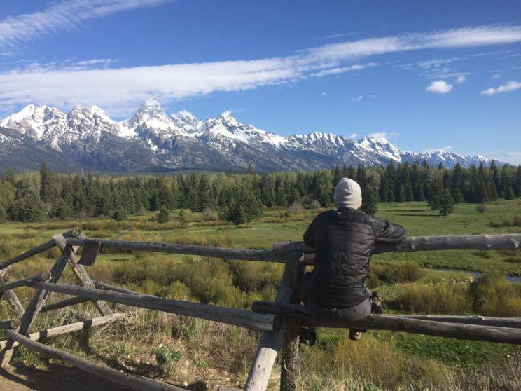 Taking it all in at Grand Teton National Park.