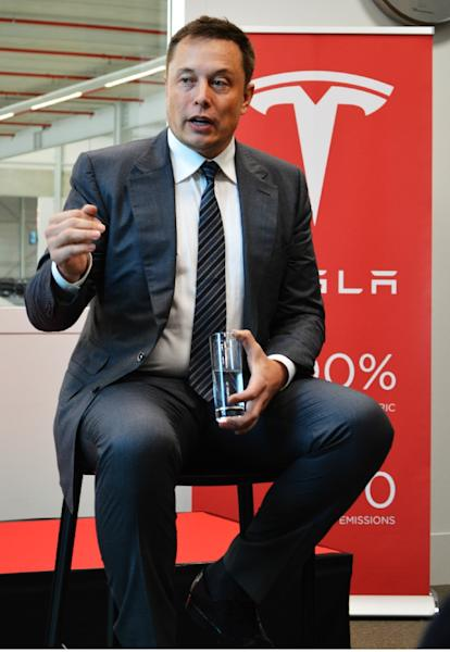 Tesla founder and chief executive Elon Musk said the new autopilot software was being added to its Model S vehicles (AFP Photo/Jan Hennop)
