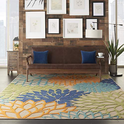 Nourison Aloha Floral Outdoor Area Rug (Amazon / Amazon)