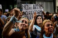 Protests over the Argentinian government's economic reform plan broke out in the capital Buenos Aires last week