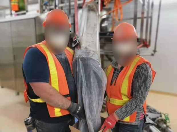 Some employees told CBC News they constantly worked with powdered substances and milk dust was everywhere, but they weren't always provided with adequate respirators.