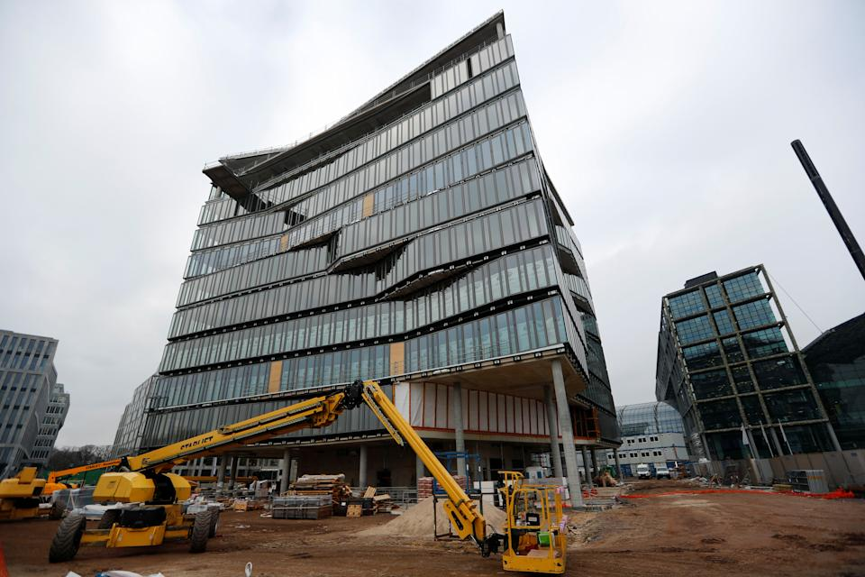 The Cube office building being built near the main railway station in Berlin, Germany. Photo: Fabrizio Bensch/Reuters