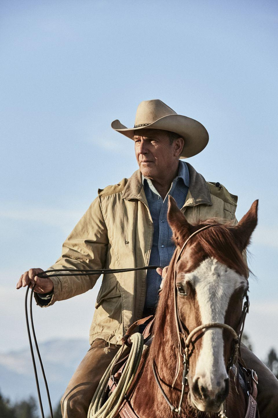 """<p>And here we are back at <em>Yellowstone</em>! Even though there are rumors that Kevin might be leaving in<a href=""""https://www.thepioneerwoman.com/news-entertainment/a33983564/yellowstone-season-4-premiere-cast-news-spoilers/"""" rel=""""nofollow noopener"""" target=""""_blank"""" data-ylk=""""slk:the next season"""" class=""""link rapid-noclick-resp""""> the next season</a>, we sincerely hope to get more of <a href=""""https://www.thepioneerwoman.com/news-entertainment/g34208760/yellowstone-cast-characters/"""" rel=""""nofollow noopener"""" target=""""_blank"""" data-ylk=""""slk:John and the rest of the Duttons"""" class=""""link rapid-noclick-resp"""">John and the rest of the Duttons</a> at least for a few more years. Only time will tell! Until then, at least we have this photo of him as a cowboy. </p>"""