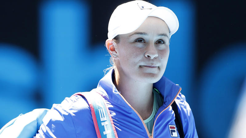 Ash Barty, pictured at the Australian Open, could become Australia's highest-earning women's tennis player.