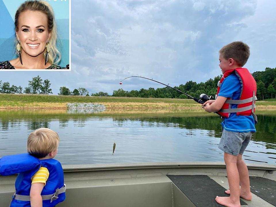 "<p>The country star is using her downtime to focus on family and <a href=""https://people.com/parents/carrie-underwood-quarantine-get-to-know-her-kids/"" rel=""nofollow noopener"" target=""_blank"" data-ylk=""slk:spending time with her sons"" class=""link rapid-noclick-resp"">spending time with her sons</a> Isaiah Michael and Jacob Bryan in a way she never was able to before.</p> <p>""I've never been in one place for this long in the past 15-plus years of my career,"" Underwood said on the <em>Today</em> show. ""So it's been really great <a href=""https://twitter.com/TODAYshow/status/1309123650168197120"" rel=""nofollow noopener"" target=""_blank"" data-ylk=""slk:to just really get to know them"" class=""link rapid-noclick-resp"">to just really get to know them</a> and watch them grow — especially Jake. It's such a critical time in his life and I'm never gonna get it back. So we're just trying to enjoy it.""</p>"