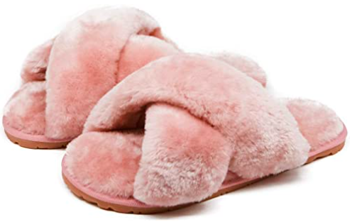 """<h2>Fuzzy Slippers<br></h2><br>Keep those PJ runs to the corner store on point with fuzzy, faux-fur slippies. <br><br><strong>Crazy Lady</strong> Fuzzy Slide Slippers, $, available at <a href=""""https://www.amazon.com/Crossband-Slippers-Sandals-Anti-Slip-Outdoor/dp/B07XX2LSV4"""" rel=""""nofollow noopener"""" target=""""_blank"""" data-ylk=""""slk:Amazon"""" class=""""link rapid-noclick-resp"""">Amazon</a>"""