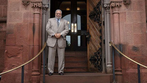 PHOTO: Secretary-elect Lonnie G. Bunch stands at the East Door of the Smithsonian Castle, May 28, 2019. (Jaclyn Nash/Smithsonian Institution)