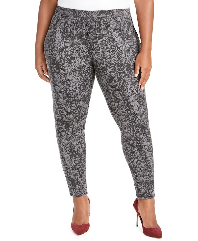 Style & Co Pull-On Snakeskin Print Pants. (Photo: Macy's)