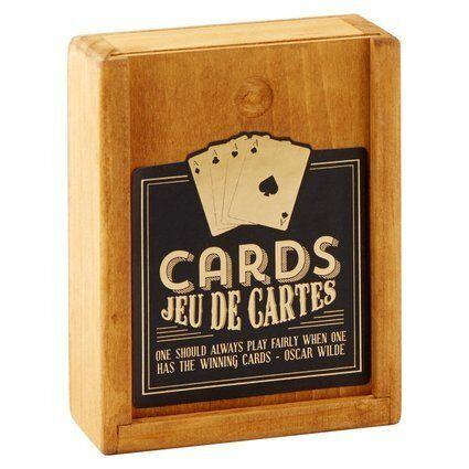 """<a href=""""http://www.chapters.indigo.ca/house-and-home/gifts/vintage-playing-cards-set/5037200018035-item.html?ref=by-shop%3aseasonal%3a14holidaygiftguide-forhim-funandgames%3afor-him-fun-games%3a23%3a"""" target=""""_blank"""">Vintage Playing Cards Set, $12, available at Indigo </a>"""