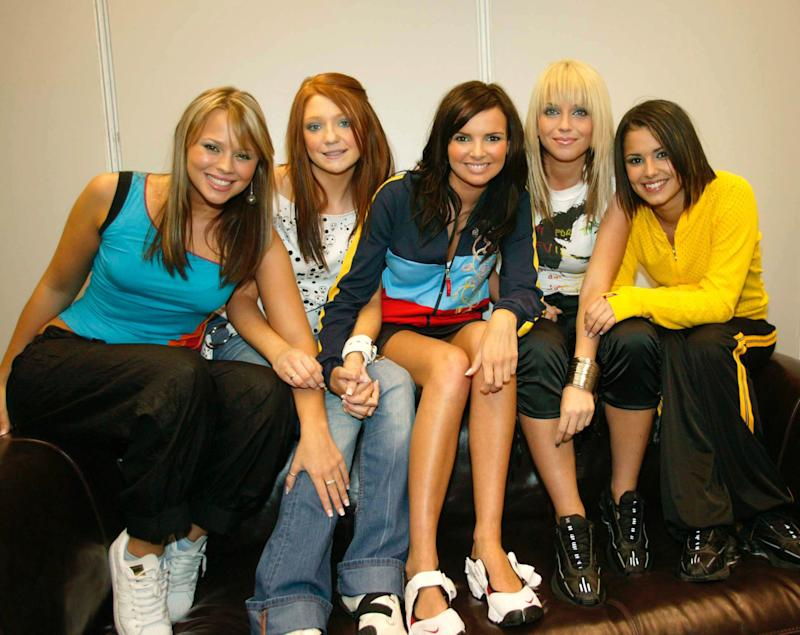 Girls Aloud at Landsdowne Road in Dublin where they were supporting Westlife.