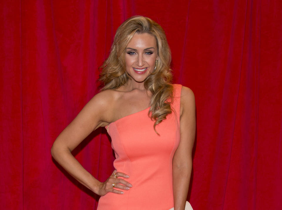 LONDON, ENGLAND - MAY 24:  Catherine Tyldesley attends the British Soap Awards at Hackney Empire on May 24, 2014 in London, England.  (Photo by Mark Cuthbert/UK Press via Getty Images)