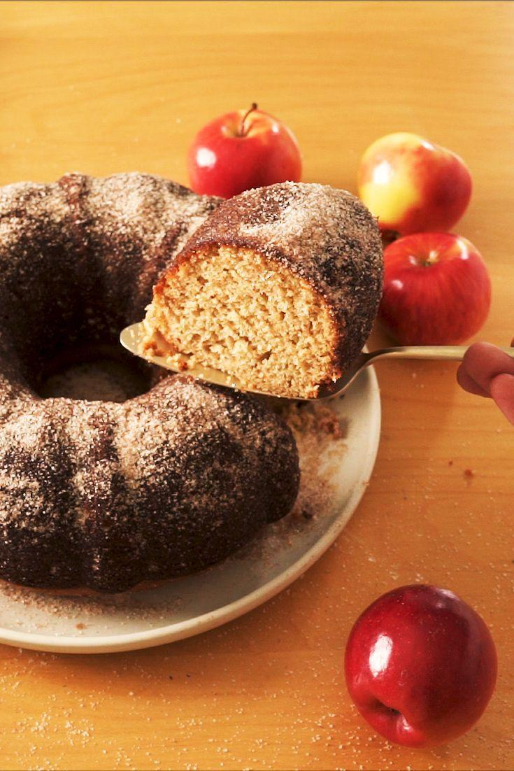 """<p>This super-sized version of apple cider donuts comes together in no time, <em>and</em> there's no deep frying involved.<br></p><p>Get the recipe from <a href=""""https://www.delish.com/cooking/recipe-ideas/a33981838/apple-cider-donut-cake-recipe/"""" rel=""""nofollow noopener"""" target=""""_blank"""" data-ylk=""""slk:Delish"""" class=""""link rapid-noclick-resp"""">Delish</a>.</p>"""