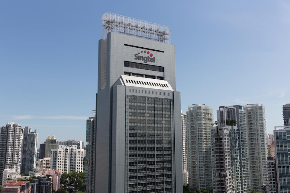 The Singtel Building in Singapore