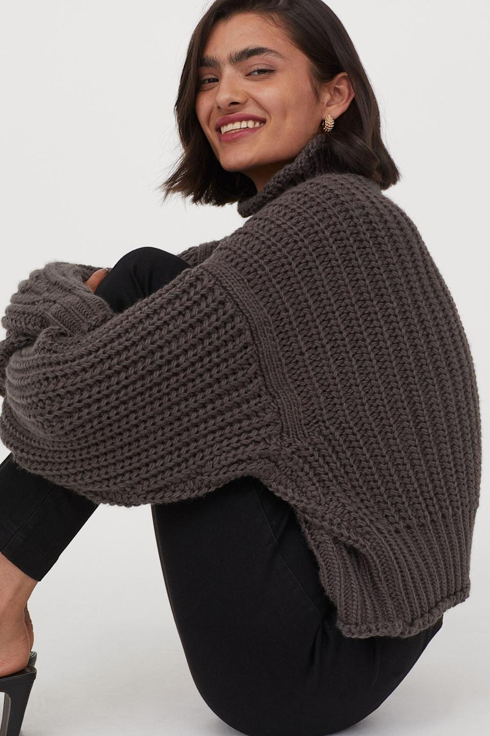 <p>This <span>H&amp;M Ribbed Turtleneck Sweater</span> ($49) comes in a few other great colors.</p>