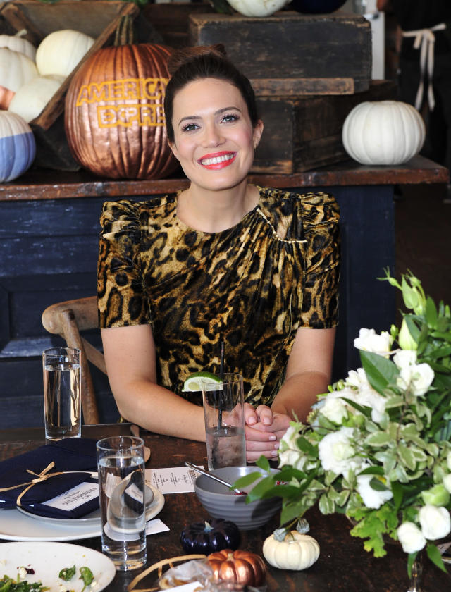 Mandy Moore promoting Friendsgiving with the American Express Blue Cash Everyday Card on November 9, 2017 at the Eveleigh in Los Angeles. (Photo: ParkerPhoenix PR