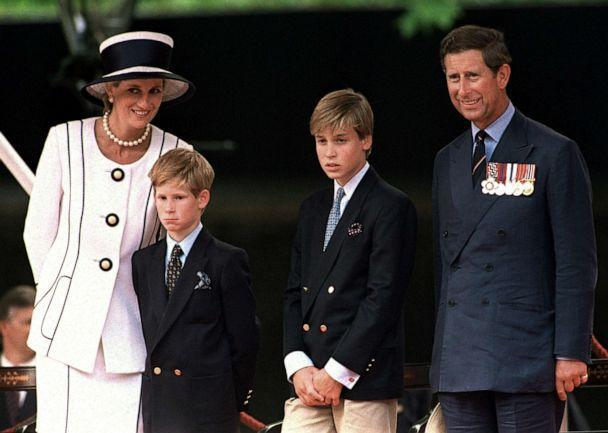 PHOTO: Princess Diana, Prince Harry, Prince William and Prince Charles attend a parade in London, August 1994. (Princess Diana Archive/Getty Images, FILE)