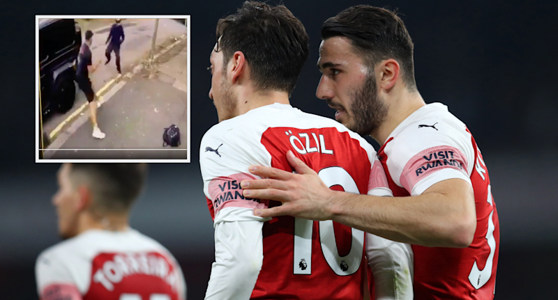 Arsenal pair Ozil and Kolasinac were the victims of the attempted crime