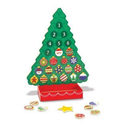 "<p><strong>Melissa & Doug</strong></p><p>target.com</p><p><strong>$16.99</strong></p><p><a href=""https://www.target.com/p/melissa-doug-countdown-to-christmas-wooden-advent-calendar/-/A-17357692"" rel=""nofollow noopener"" target=""_blank"" data-ylk=""slk:Shop Now"" class=""link rapid-noclick-resp"">Shop Now</a></p><p>For clutter-busters, you don't get a ton of toys out of this calendar — the calendar is a toy in and of itself. Each day, kids get to select an ornament and ""hang"" it on the tree. (They're magnets.) <em>Ages 3+</em></p>"