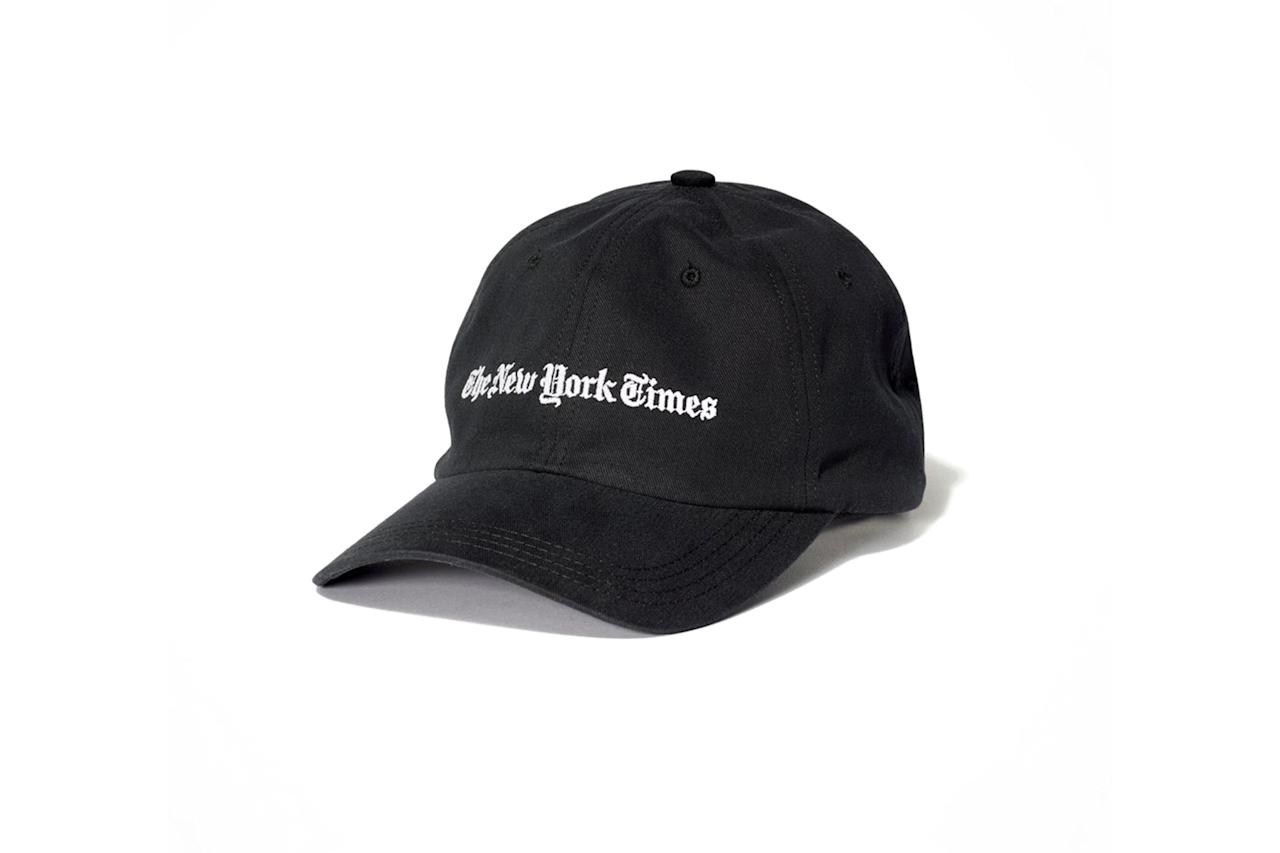 """$28, The New York Times store. <a href=""""https://store.nytimes.com/collections/new-york-times-hats"""">Get it now!</a>"""