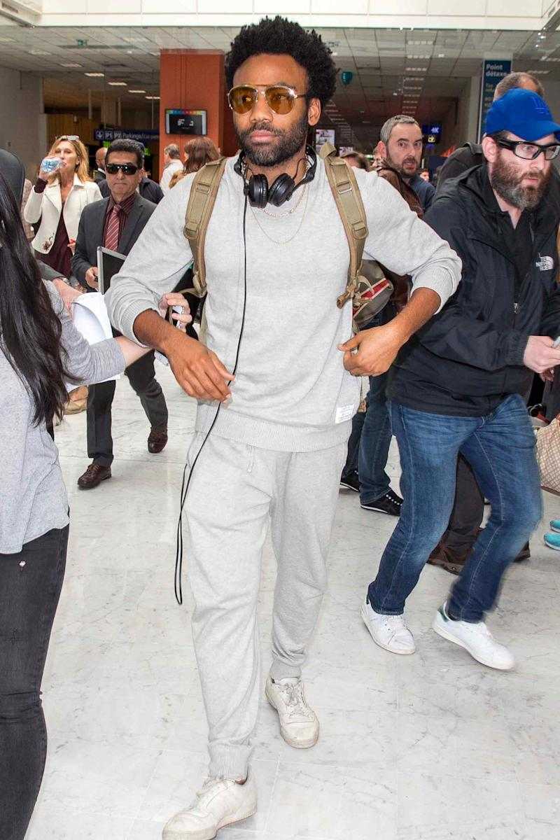 Donald Glover, airport style king.