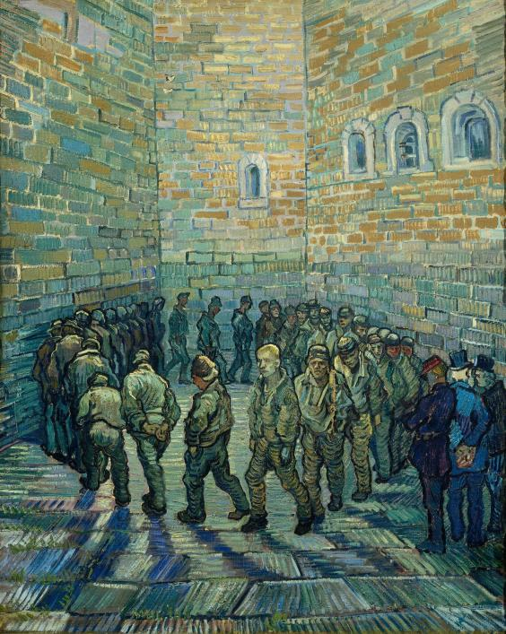 'Prisoners Exercising', 1890, oil paint on canvas (The Pushkin State Museum of Fine Arts, Moscow)