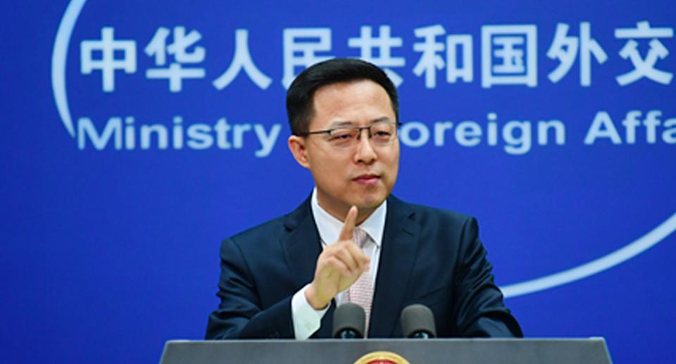 China's Foreign Ministry spokesperson Zhao Lijian. Source: FMPRC