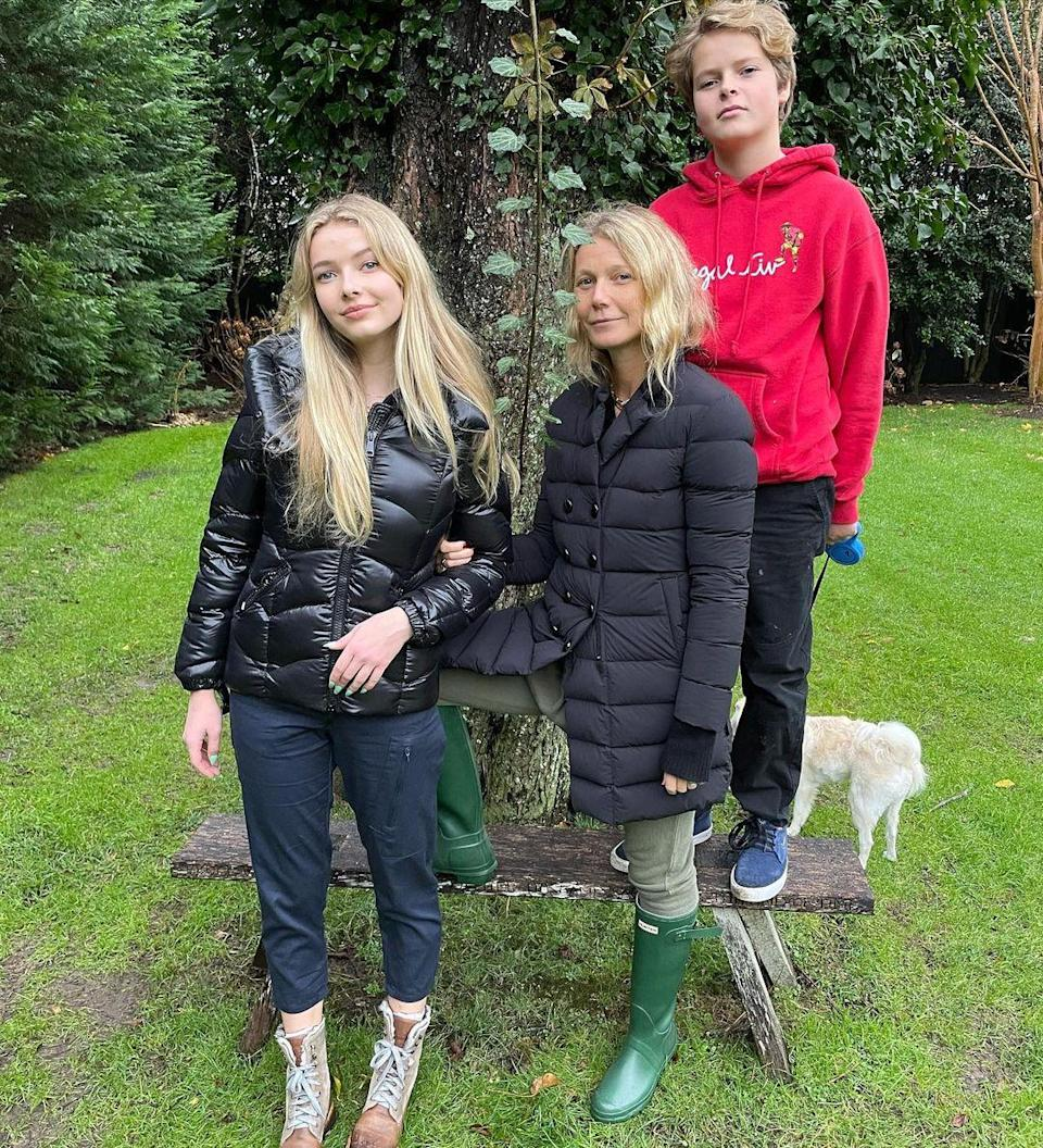 """<p>The actress spent the day feeling """"incredible highs and lows"""" with """"the two loves of [her] life."""" </p> <p>""""On this November 26th, I was able to visit my fathers resting place (on his birthday) with these two loves of my life,"""" Paltrow shared on Instagram alongside a photo with her children, Apple and Moses.</p> <p>She concluded,""""Happy thanksgiving. Life has incredible highs and lows. Perhaps feeling it all at the same time is the art. 💖""""</p>"""