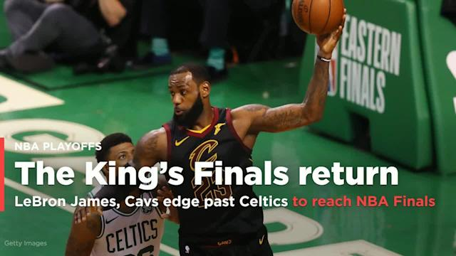 The Cleveland Cavaliers rallied back from a slow start and held on late in the fourth quarter to beat the Celtics 87-79 on Sunday night at TD Garden in Boston, earning a trip to the NBA Finals.