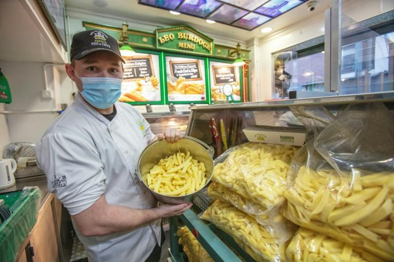 "Brexit threatens the annual flow of potatoes from British fields to Irish takeaway outlets locals call ""chippers"""