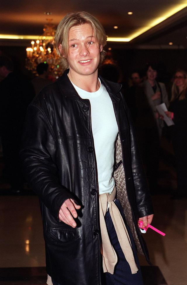 Actor Adam Rickitt, from TV soap, Coronation Street, arriving at London's Royal Lancaster Hotel for the 95.8 Capital FM 1999 London Awards lunch. (Photo by Fiona Hanson - PA Images/PA Images via Getty Images)