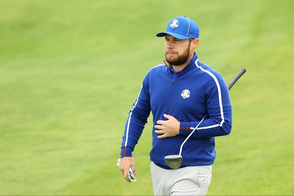 Tyrell Hatton has developed a reputation as a fiery character on the course  (Getty Images)