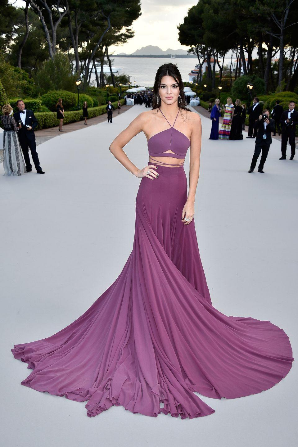 <p>When Kendall Jenner wore this purple evening gown to amfAR's 22nd Cinema Against AIDS Gala in France, she gave us all the Princess Jasmine feels.</p>