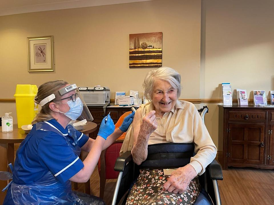 <p>Concerns have been raised about slower uptake among some frontline care staff</p> (PA)