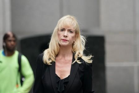 Attorney Sigrid McCawley, lawyer for Jeffrey Epstein's alleged victims, arrives to Manhattan Federal Court following a hearing in a defamation lawsuit filed by one of Jeffrey Epstein's alleged victims, Virginia Giuffre, in New York
