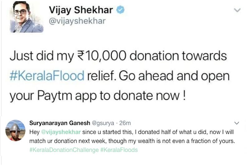Twitter Slams India's Youngest Billionaire, Paytm Founder, For Donating Rs 10,000 to Kerala