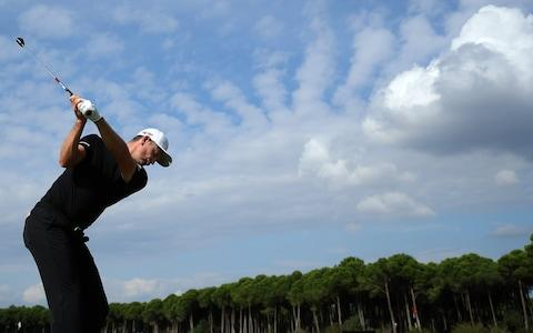 <span>Rose practices ahead of the Turkish Airlines Open</span> <span>Credit: Getty Images </span>