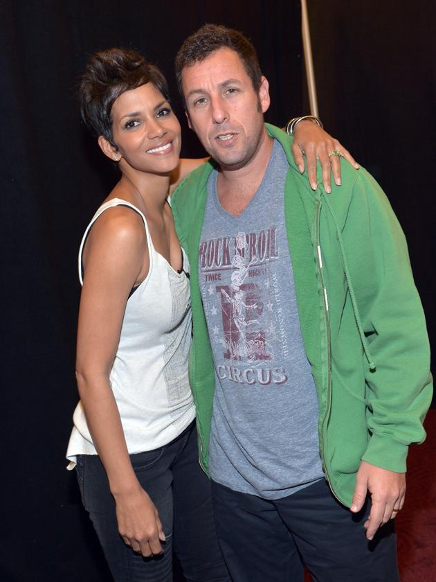 Kids' Choice Awards 2012 photos: Halle Berry and Adam Sandler cosied up for this snap.