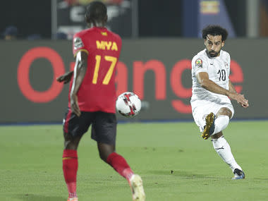 Africa Cup of Nations 2019: Mohamed Salah scores as Egypt beat Uganda to make it three wins in a row
