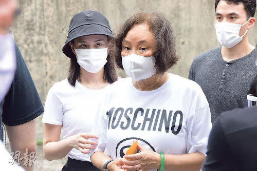 Third wife Ina Chan with daughter Laurinda