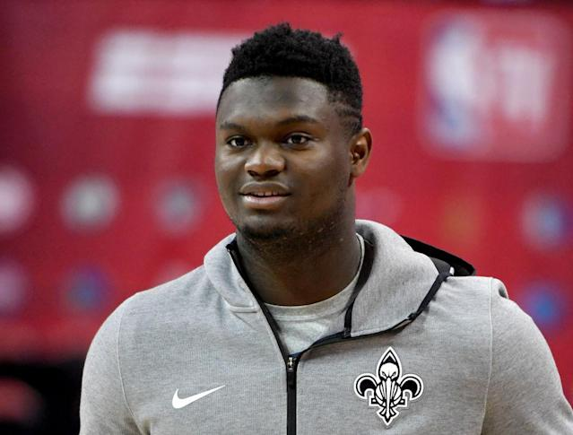 """New Orleans Pelicans rookie <a class=""""link rapid-noclick-resp"""" href=""""/nba/players/6163/"""" data-ylk=""""slk:Zion Williamson"""">Zion Williamson</a> joins a list of established NBA stars to withdraw from USA Basketball training camp. (Getty Images)"""