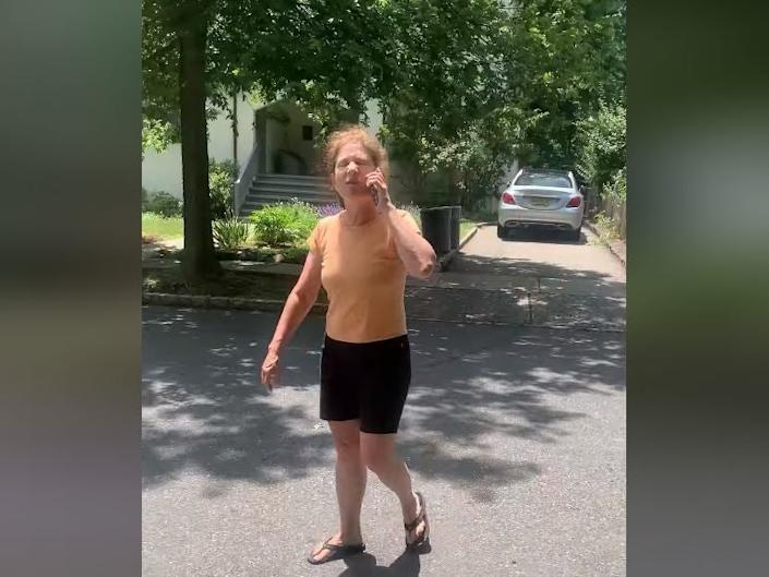 Susan Shulz calls the police on her black neighbors after insisting they need a permit to build their backyard patio and claiming the neighbors shoved her: Facebook