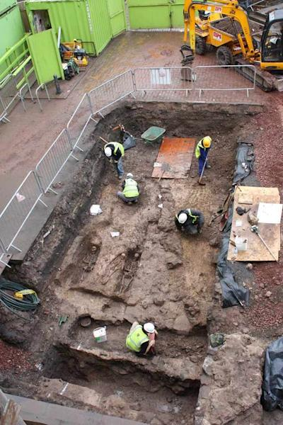 Ancient burial crypt unearthed under a Scotland parking lot