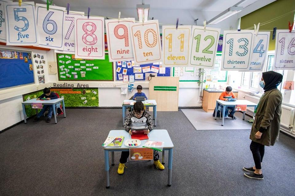 The findings come amid calls for primary school testing of Reception pupils to be scrapped   (Getty Images)