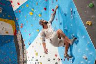 "<p>Sometimes, the best way to get your cardio is by going up. Indoor rock climbing is a unique way to get your sweat on, requiring as much strength as it does agility. You're constantly moving and straining here, much like running. </p><p>But unlike running, your upper body doesn't get even the slightest bit of rest. Your hands (and forearm and grip muscles) get taxed to the max while grasping tiny handholds, and your back must constantly pull your torso toward the wall. It's a vicious blend that's growing <a href=""https://www.menshealth.com/fitness/a27307038/rock-climbing-forearms-abs-workout/"" rel=""nofollow noopener"" target=""_blank"" data-ylk=""slk:increasingly popular"" class=""link rapid-noclick-resp"">increasingly popular</a>. Need somewhere to start with it? If you're in the New York City area, check out <a href=""https://www.chelseapiers.com/fitness/rock-climbing/overview/"" rel=""nofollow noopener"" target=""_blank"" data-ylk=""slk:Chelsea Piers"" class=""link rapid-noclick-resp"">Chelsea Piers</a>. </p>"