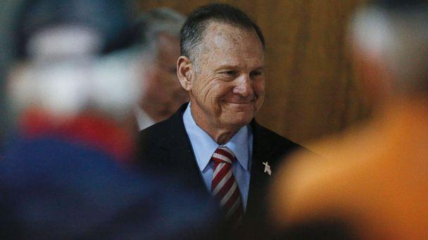 PHOTO: Former Alabama Chief Justice and U.S. Senate candidate Roy Moore speaks at a campaign rally, Nov. 27, 2017, in Henagar, Ala. (Brynn Anderson/AP)