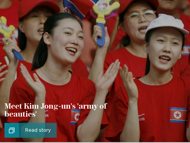 Meet Kim Jong-un's 'army of beauties'