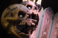 <p>These creepy skulls were sported by Penguin's henchmen in the Tim Burton-directed sequel. (Photo: Warner Bros.) </p>