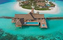 """<p>Nothing makes you feel as apart from the world as your own private island. While the entire Waldorf Astoria Maldives Ithaafushi does in fact occupy a private island, it has 119 overwater, beach, and reef villas. Its islet gives you those extra degrees of separation if you want them: It sleeps 25 in two villas and a four-bedroom residence, has its own 5 swimming pools, a dedicated team of chefs, a spa, a yacht mooring, and a private entertainment clubhouse. Robinson Crusoe never had it this good.</p><p><a class=""""link rapid-noclick-resp"""" href=""""https://www.waldorfastoriamaldives.com/private-island/"""" rel=""""nofollow noopener"""" target=""""_blank"""" data-ylk=""""slk:Book Now"""">Book Now</a></p>"""