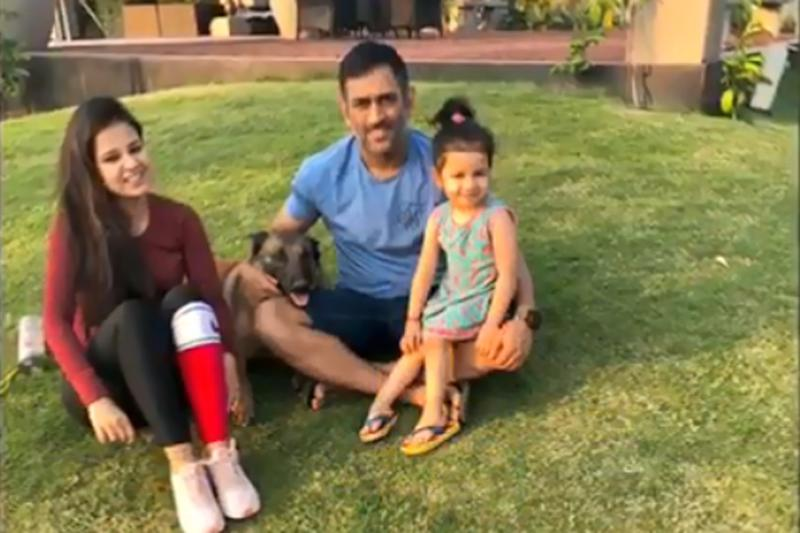 Dhoni Having a Ball With Ziva & Sakshi as He Enjoys Well-earned Rest